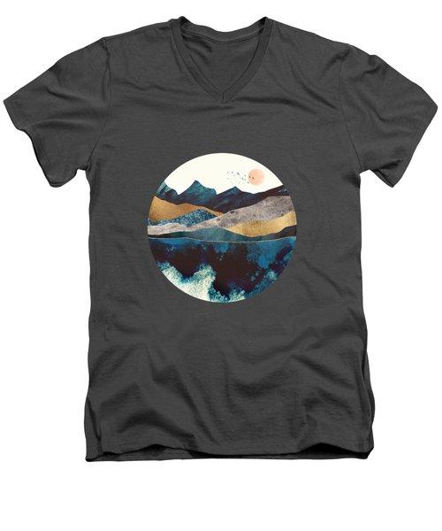 Blue Mountain Reflection Men's V-Neck T-Shirt