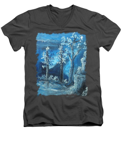 Blue Nature Men's V-Neck T-Shirt