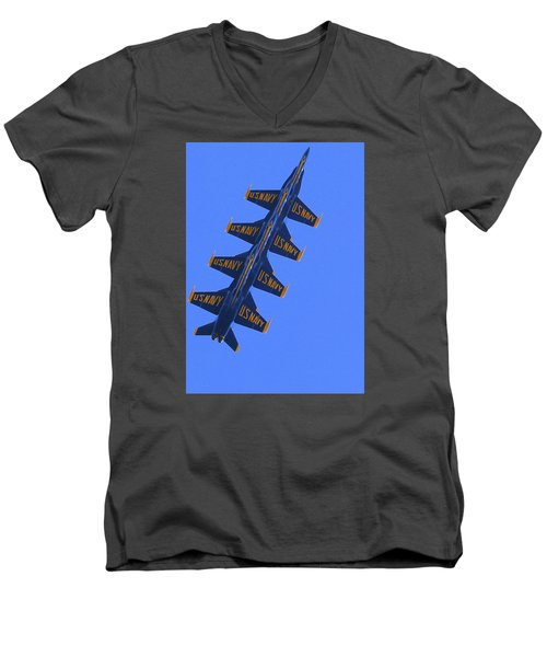 Blue On Blue Men's V-Neck T-Shirt