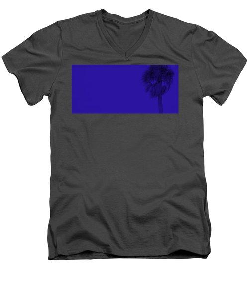 Blue Palm Men's V-Neck T-Shirt