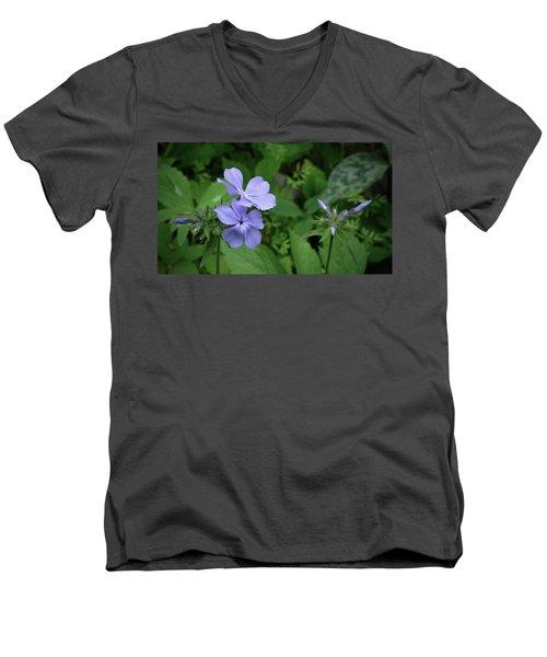 Blue Phlox Men's V-Neck T-Shirt by Tim Good