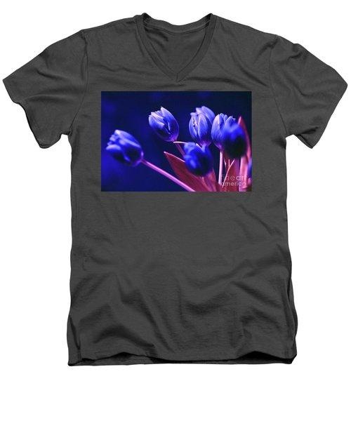 Blue Poetry Men's V-Neck T-Shirt
