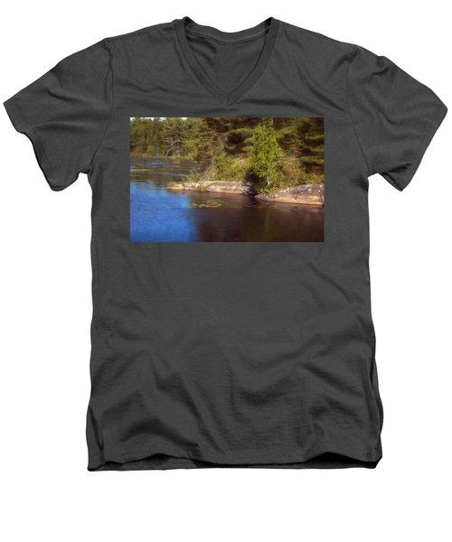 Blue Pond Marsh Men's V-Neck T-Shirt