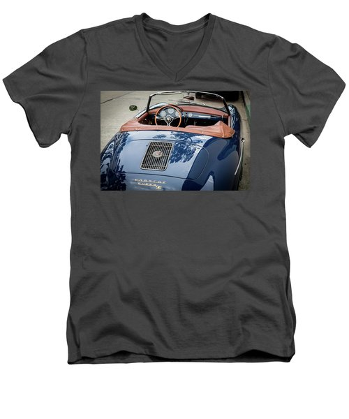 Blue Porche 356 Men's V-Neck T-Shirt