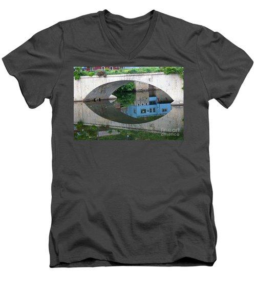 Blue Reflection Men's V-Neck T-Shirt by Jim Gillen