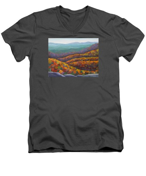 Blue Ridge Colors II			 Men's V-Neck T-Shirt