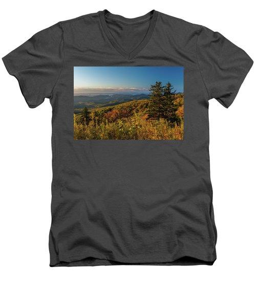 Blue Ridge Mountain Autumn Vista Men's V-Neck T-Shirt