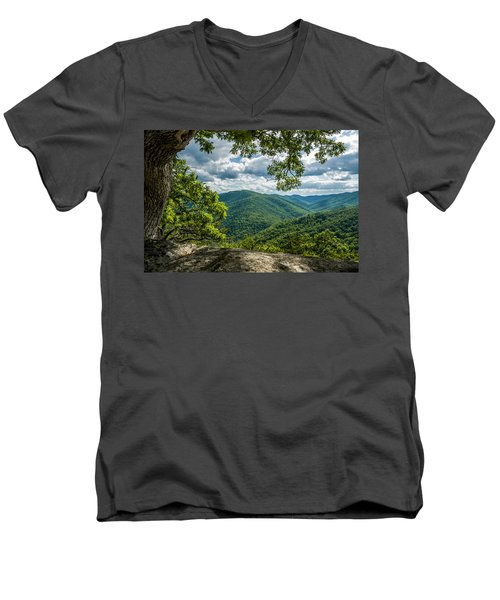 Blue Ridge Mountain View Men's V-Neck T-Shirt