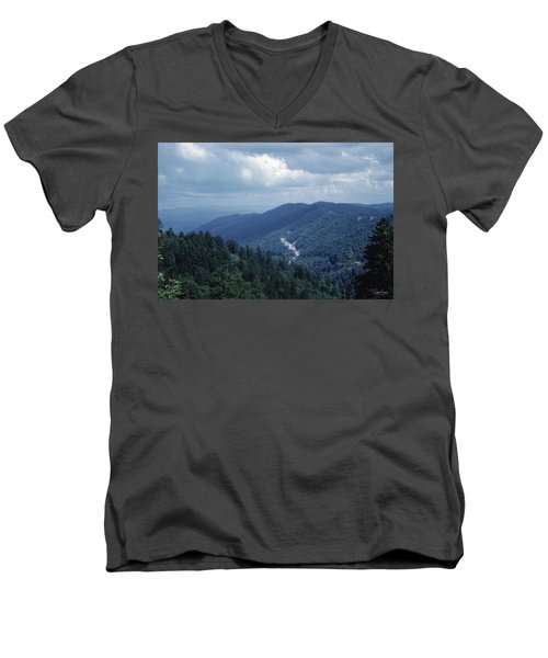 Blue Ridge Mountains 2 Men's V-Neck T-Shirt