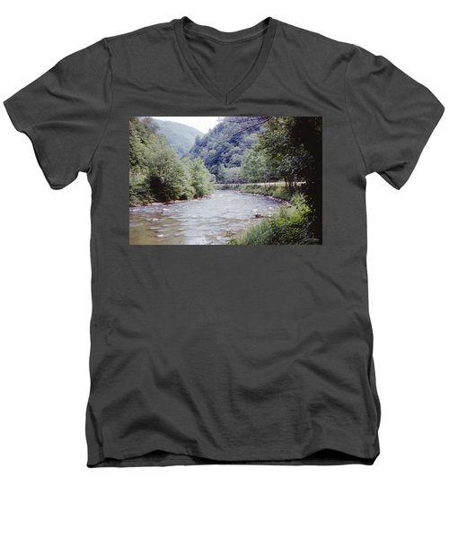 Blue Ridge Mountains 8 Men's V-Neck T-Shirt
