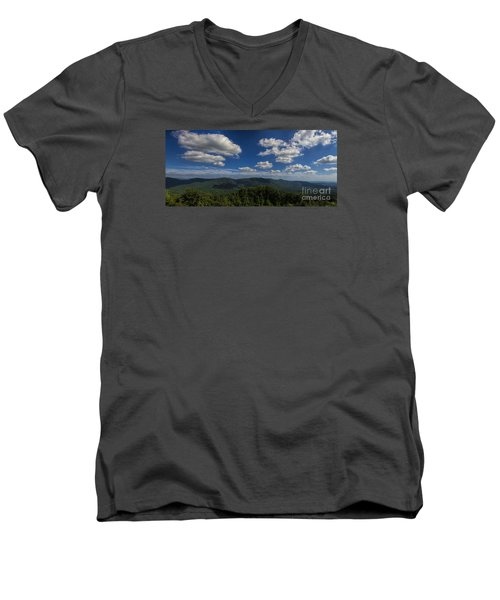 Blue Ridge Mountains Men's V-Neck T-Shirt by Barbara Bowen