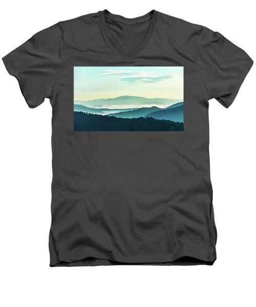 Blue Ridge Pastel Men's V-Neck T-Shirt