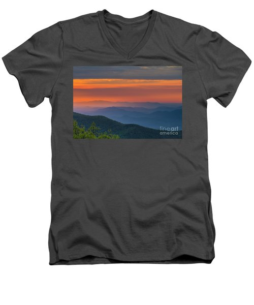 Blue Ridge Sunrise At Wintergreen  Men's V-Neck T-Shirt