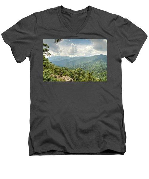 Blue Ridge View Men's V-Neck T-Shirt
