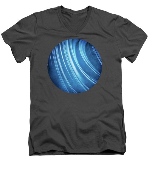 Blue Ridges Fractal Men's V-Neck T-Shirt by Phil Perkins