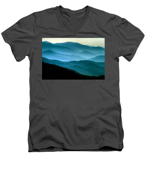 Blue Ridges Men's V-Neck T-Shirt