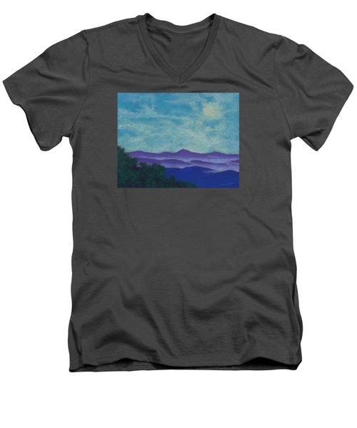Blue Ridges Mist 1 Men's V-Neck T-Shirt
