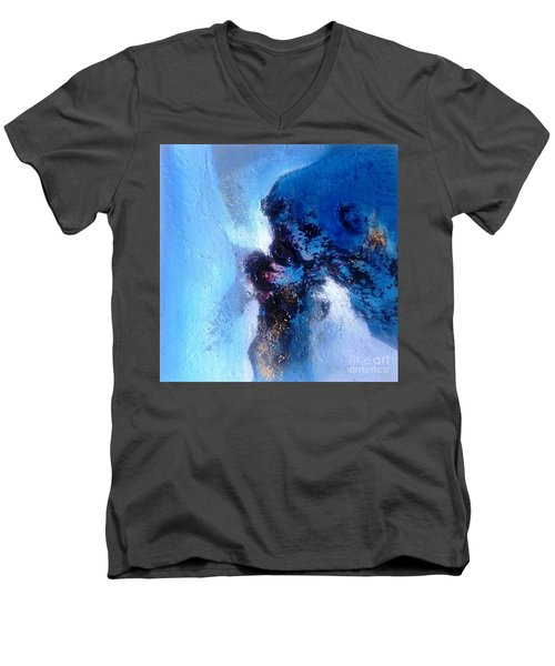 Blue Sea Men's V-Neck T-Shirt by Sanjay Punekar