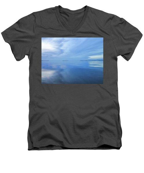 Blue Serenity Men's V-Neck T-Shirt