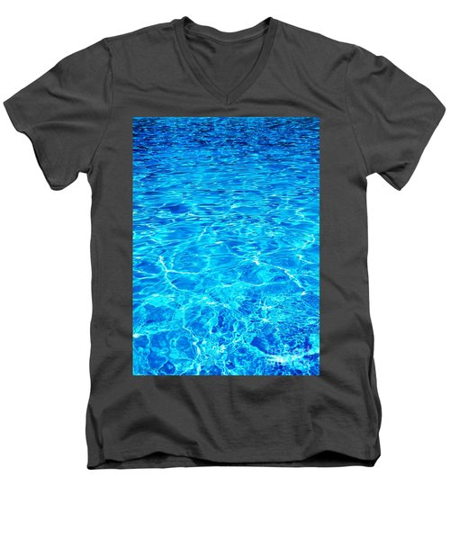 Men's V-Neck T-Shirt featuring the photograph Blue Shadow by Ramona Matei