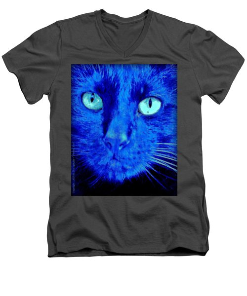 Blue Shadows Men's V-Neck T-Shirt by Al Fritz