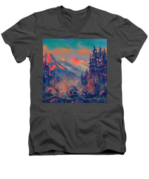 Blue Silence Men's V-Neck T-Shirt