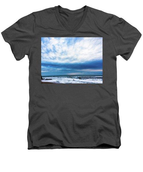 Emotion And Departure At Half Moon Bay Men's V-Neck T-Shirt
