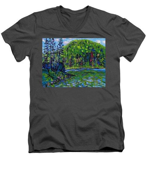 Blue Sky Greens Men's V-Neck T-Shirt