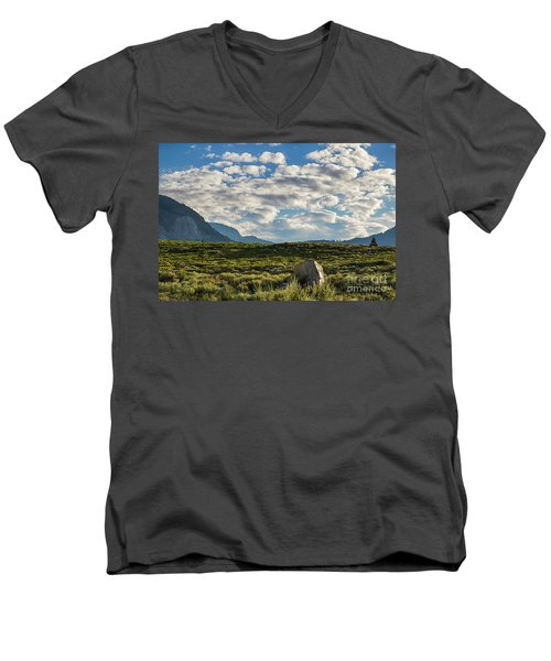 Blue Sky Monmouth  Men's V-Neck T-Shirt