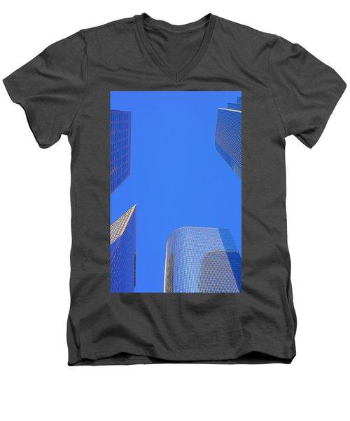 Blue Sky Over Bunker Hill Men's V-Neck T-Shirt