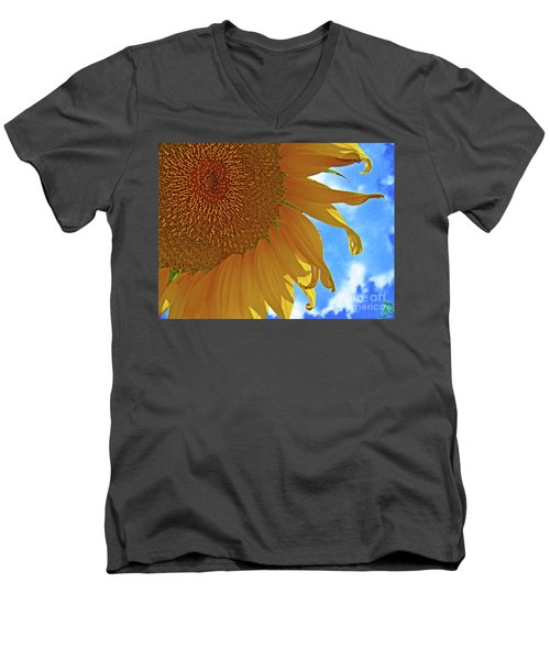 Blue Sky Sunflower Men's V-Neck T-Shirt