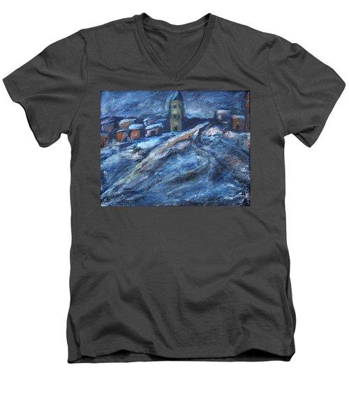 Blue Snow City Men's V-Neck T-Shirt