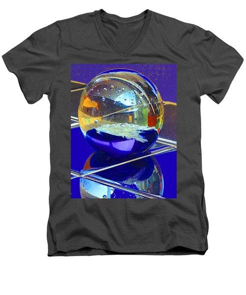 Blue Sphere Men's V-Neck T-Shirt