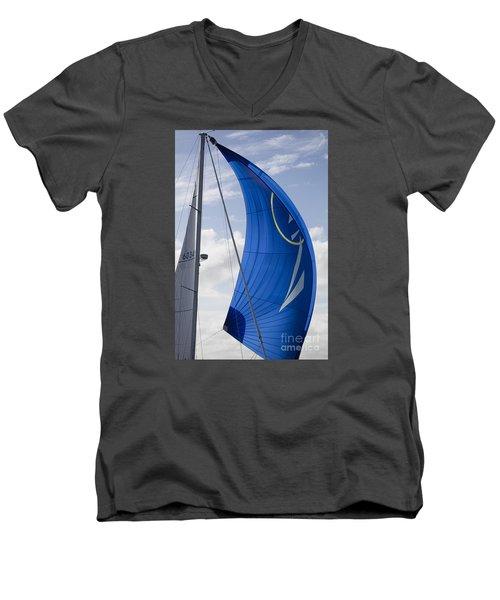 Blue Spinnaker Sy Alexandria Men's V-Neck T-Shirt