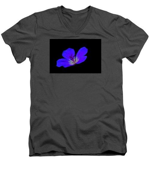 Blue Stamen Men's V-Neck T-Shirt