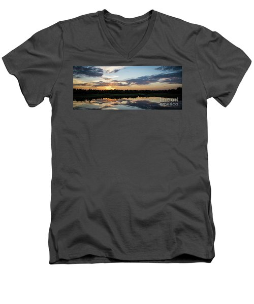Blue Sunset 2 Men's V-Neck T-Shirt