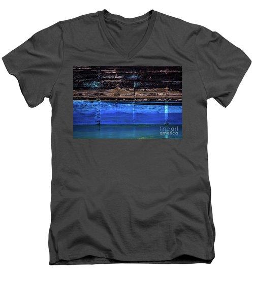 Blue Tanker Men's V-Neck T-Shirt