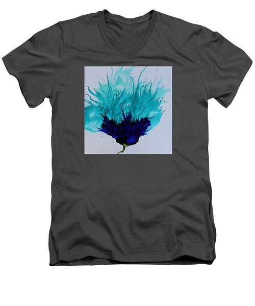 Blue Thistle Men's V-Neck T-Shirt