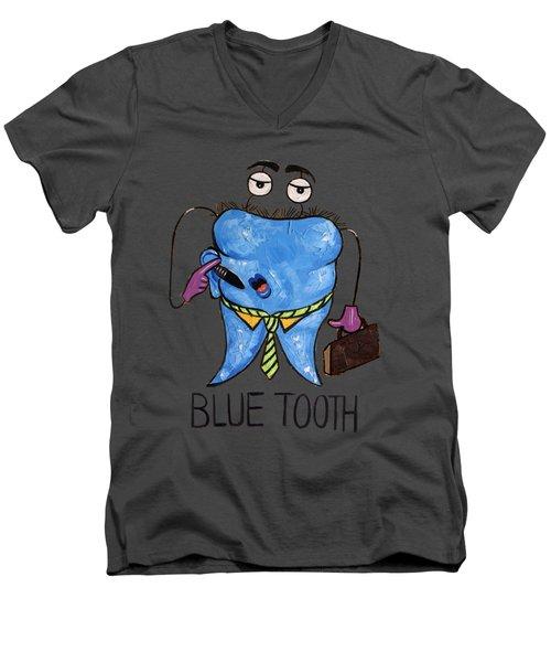 Blue Tooth Men's V-Neck T-Shirt