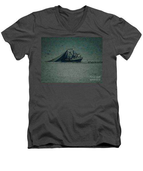 Blue Trawler 3 Men's V-Neck T-Shirt