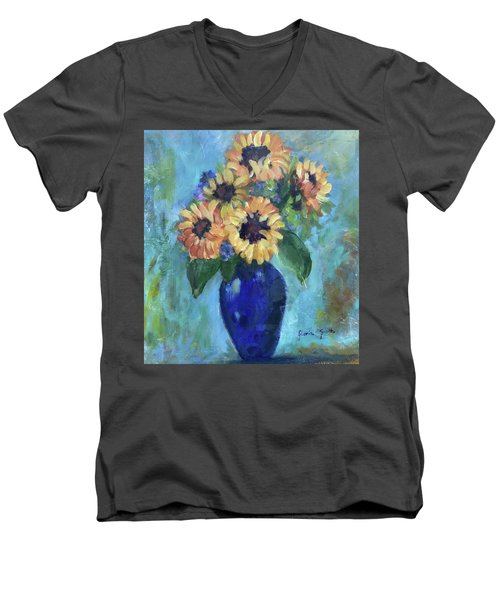 Blue Vase Men's V-Neck T-Shirt