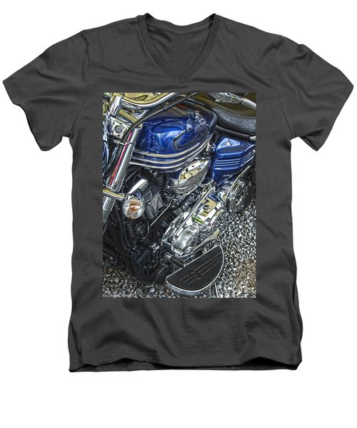 Blue Warrior Hdr Men's V-Neck T-Shirt