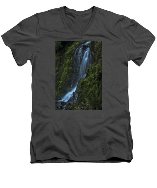 Blue Waterfall Men's V-Neck T-Shirt