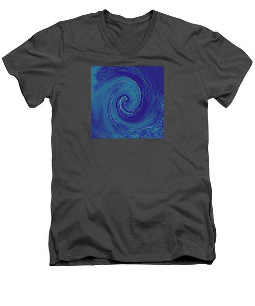 Blue Wave Men's V-Neck T-Shirt by Kerri Ligatich