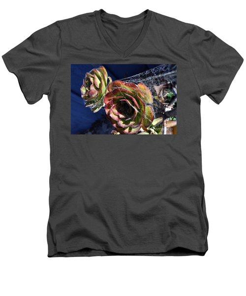 Blue Webs Men's V-Neck T-Shirt