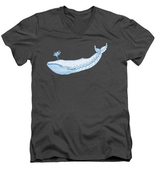 Blue Whale Men's V-Neck T-Shirt by Eko Octavianus
