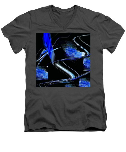 Blue1 Men's V-Neck T-Shirt