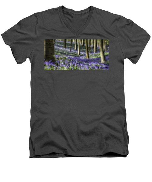 Bluebell Forest Color Explosion Men's V-Neck T-Shirt