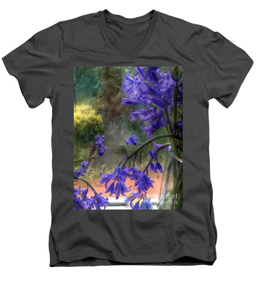 Bluebells In My Garden Window Men's V-Neck T-Shirt