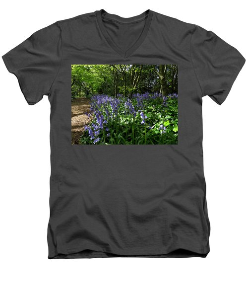Bluebells3 Men's V-Neck T-Shirt by John Topman